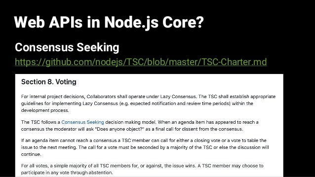 Web APIs in Node js Core: Past, Present, and Future (JSConf