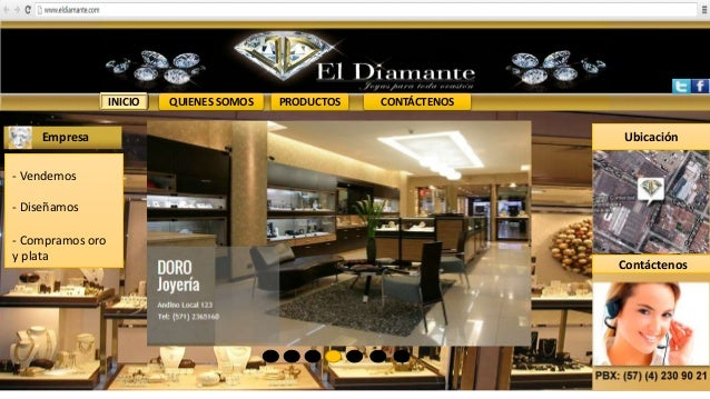 INICIO QUIENES SOMOS PRODUCTOS CONTÁCTENOS Empresa - Vendemos - Diseñamos - Compramos oro y plata Contáctenos Ubicación