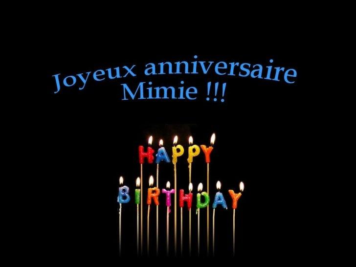 Joyeux anniversaire Mimie !!!