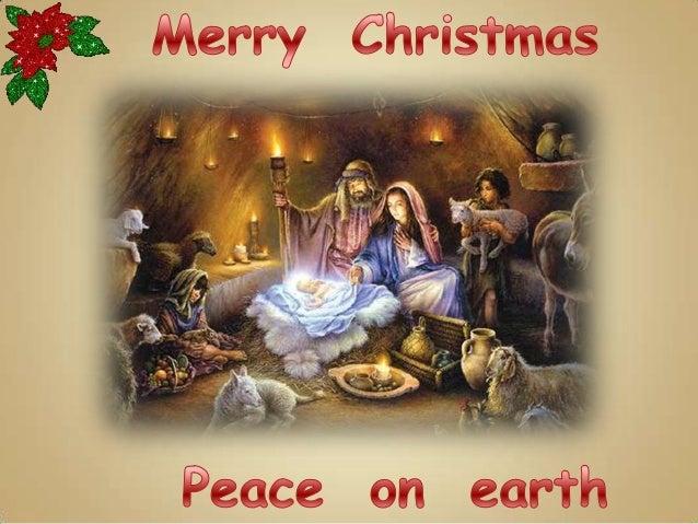 Καλά Χριστούγεννα !   Ειρήνη στη Γη