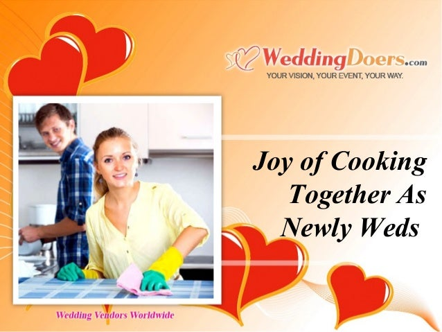 Joy of Cooking Together As Newly Weds