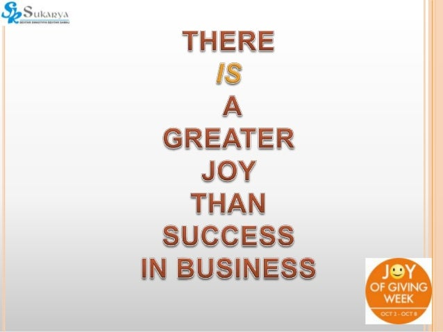 Joy In Giving: Joy Of Giving Presentation For Corporates
