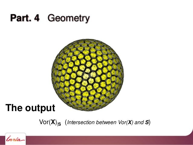 Part 4. Geometry – a difficult dataset Lots of degeneracies: Voronoi diagram with degree 4 vertices. Voronoi cell faces ma...