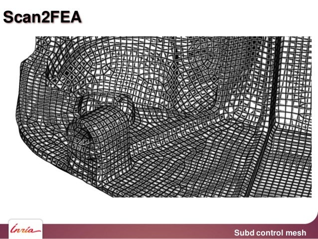 Subd surface fitted using Optimal Transport Scan2FEA