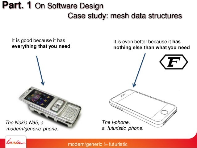 Part. 1 On Software Design Case study: mesh data structures modern/generic != futuristic It is good because it has everyth...
