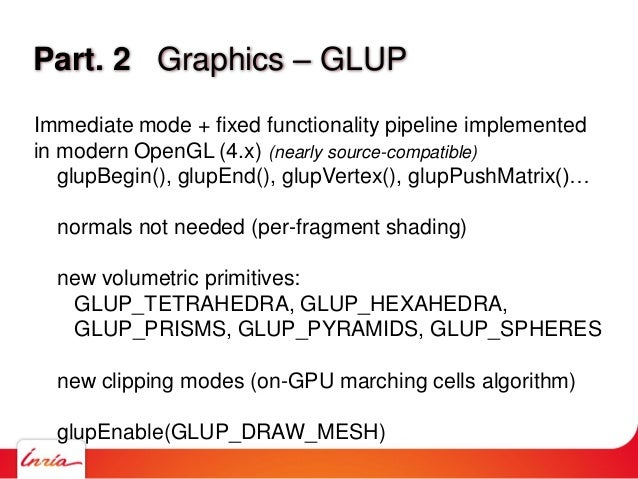 Part. 2 Graphics – GLUP Immediate mode + fixed functionality pipeline implemented in modern OpenGL (4.x) (nearly source-co...