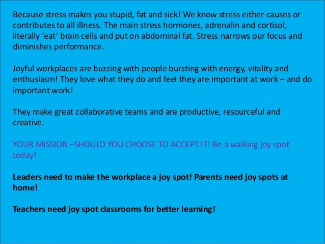 15 Ways to Create Joy Spots at Work Slide 3