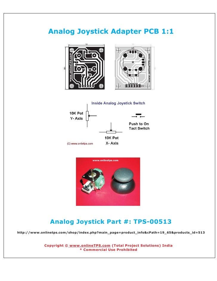 Analog Joystick Adapter PCB 1:1                        www.onlineTPS.com                                                  ...