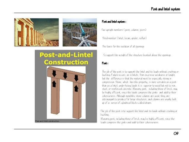 Post And Lintel : Post lintel structure for architects