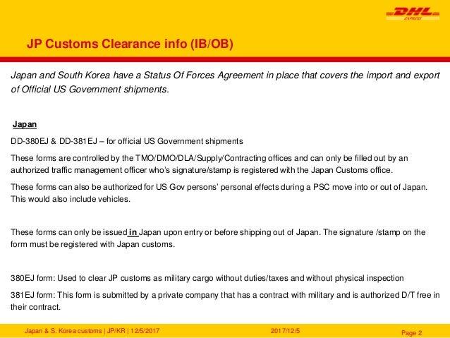 South Korea & Japan SOFA Clearance