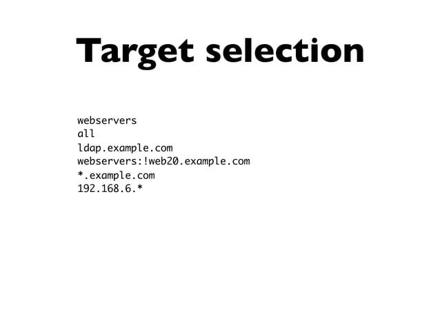 "ad-hoc copy $ ansible devservers -m copy -a 'src=resolv.conf dest=/etc/resolv.conf' a1.ww.mens.de   success >> { ""changed""..."
