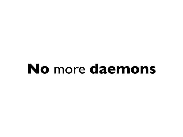 No more agents