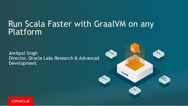 Run Scala Faster with GraalVM on any Platform Amitpal Singh Director, Oracle Labs Research & Advanced Development