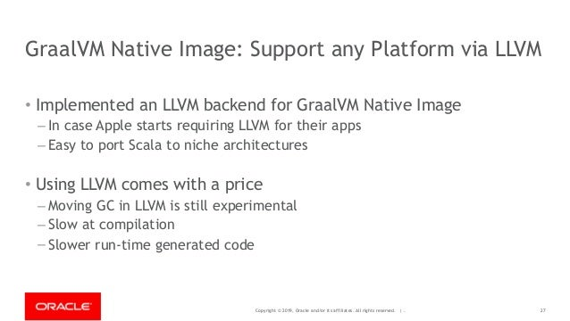 Copyright © 2019, Oracle and/or its affiliates. All rights reserved. | - GraalVM Native Image: Support any Platform via LL...
