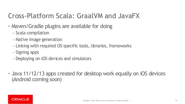 Copyright © 2019, Oracle and/or its affiliates. All rights reserved. | - Cross-Platform Scala: GraalVM and JavaFX • Maven/...