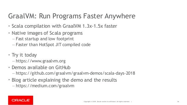 Copyright © 2019, Oracle and/or its affiliates. All rights reserved. | GraalVM: Run Programs Faster Anywhere • Scala compi...