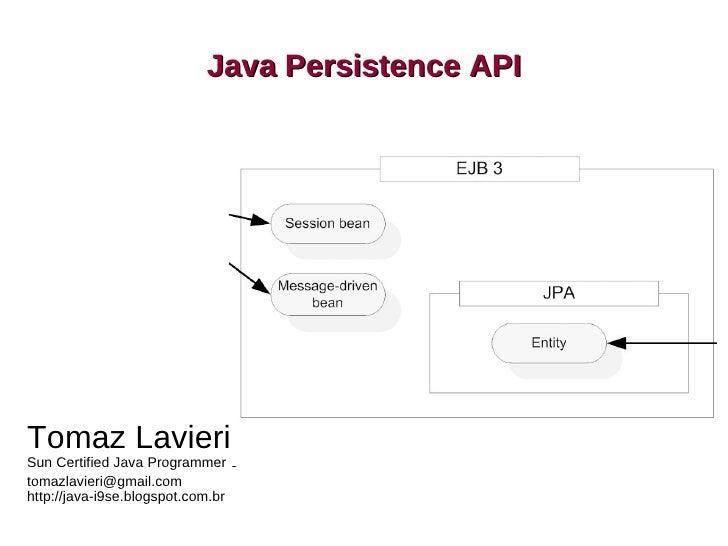 Java Persistence API                                        JPA    Tomaz Lavieri Sun Certified Java Programmer 6 tomazlavi...