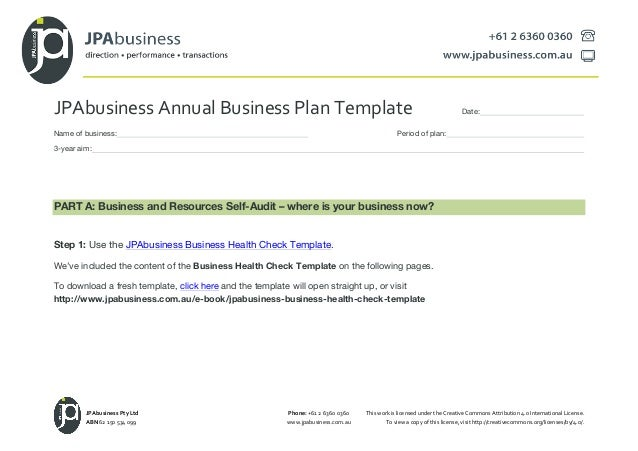Jpabusiness annual business plan template jpabusiness annual business plan template date name of business period of plan 3 flashek Image collections