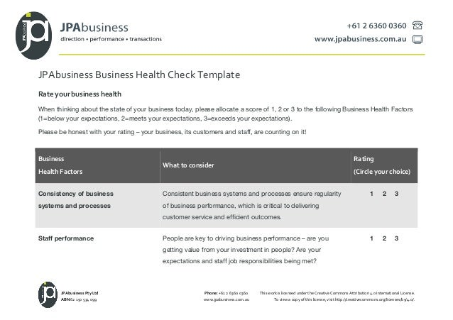 Jpabusiness annual business plan template 2 jpabusiness business health check template cheaphphosting Gallery