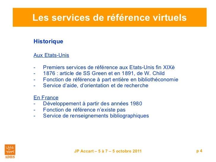 Les services de référence virtuels <ul><li>Historique </li></ul><ul><li>Aux Etats-Unis </li></ul><ul><li>Premiers services...