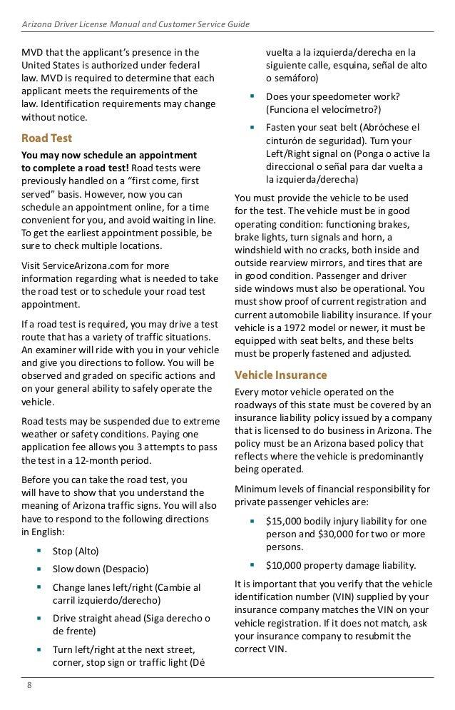 arizona driver license manual and customer service guide 2018 rh slideshare net Life Insurance License Exam Certificate of Insurance