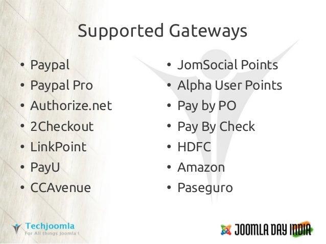 Joomla Common Payments API - Joomla World Conference 2012