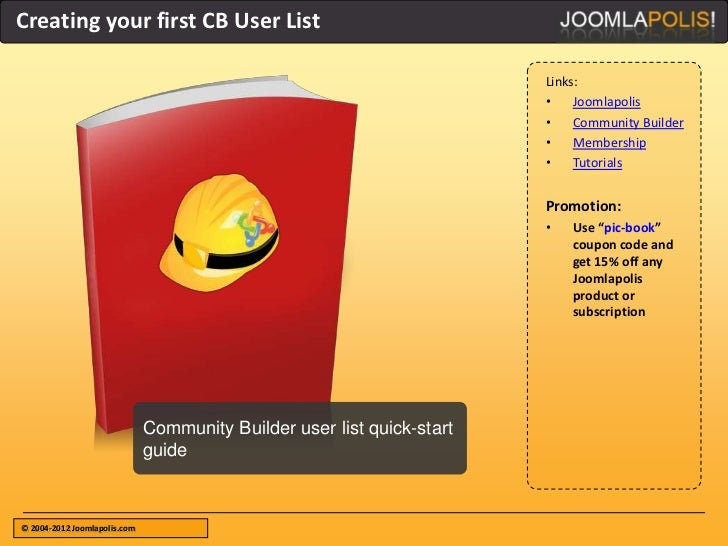 Creating your first CB User List                                                                        Links:            ...