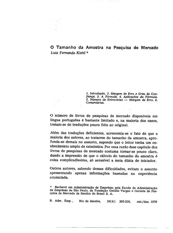 J:\Pc 28\Meus Documentos\O Tamanho Da Amostra Na Pesquisa De Mercado