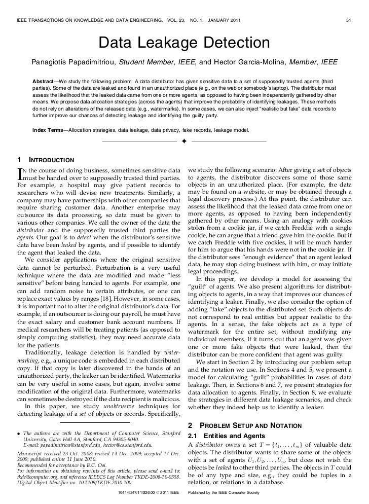 IEEE TRANSACTIONS ON KNOWLEDGE AND DATA ENGINEERING,                    VOL. 23,     NO. 1,    JANUARY 2011               ...