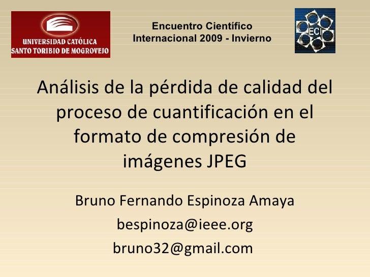 Encuentro Científico            Internacional 2009 - InviernoAnálisis de la pérdida de calidad del  proceso de cuantificac...