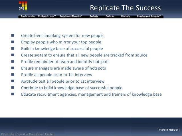 Jpe recruitment blueprint presentation mcquaig system recruitment blueprintpsychometrics evaluate replicate eliminate development blueprint 8 malvernweather Images