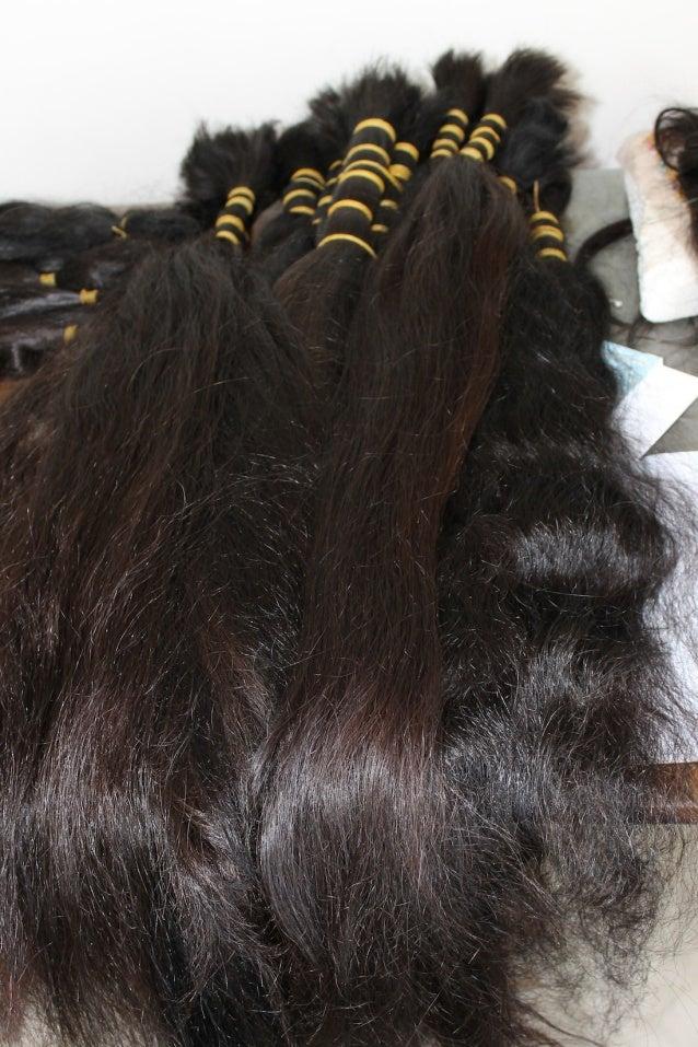 Natural untreated Uzbek hair.