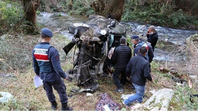 Sağlık çalışanlarının bulunduğu otomobil Ihlara Vadisi'ne uçtu