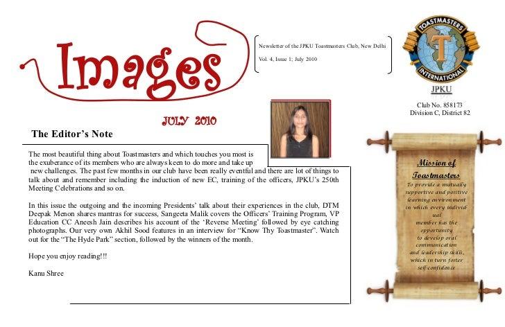 Images                                                                             Newsletter of the JPKU Toastmasters Clu...