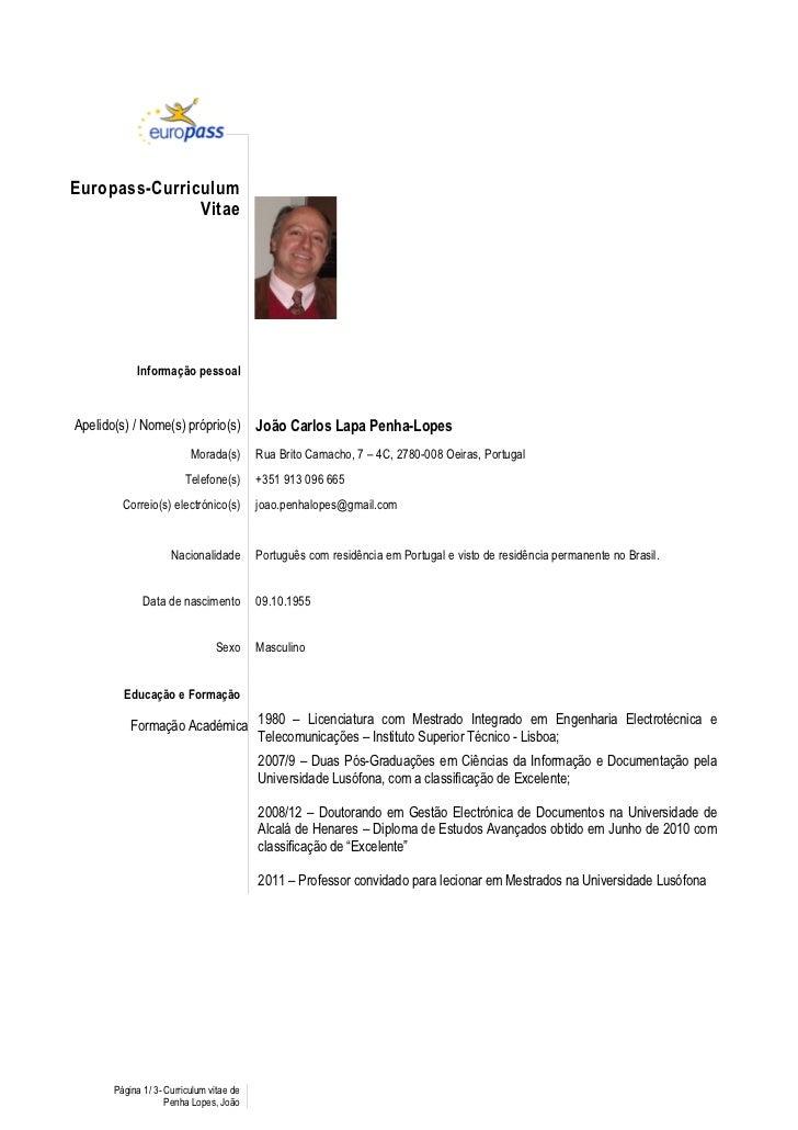 Exemplos De Curriculum Vitae G1