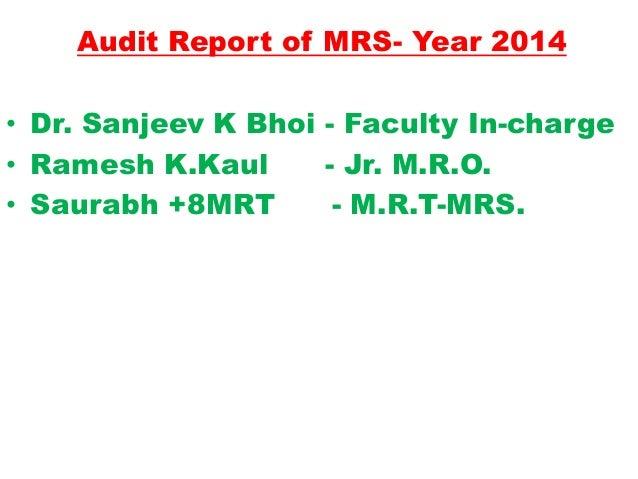 Medical Record Section audit 2014pptx Slide 3