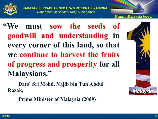 Ways to promote national unity in malaysia from so