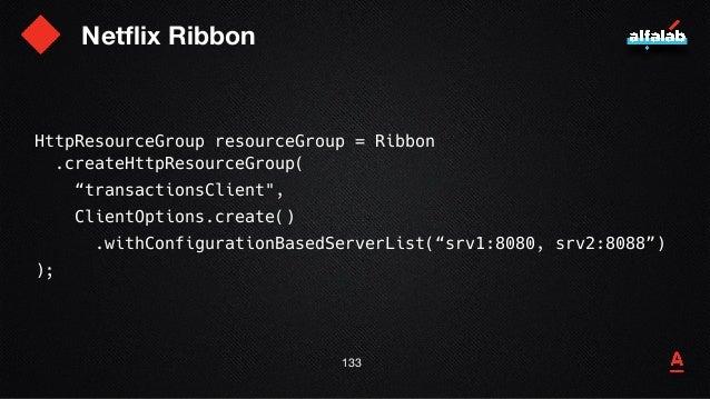 "Netflix Ribbon 134 HttpRequestTemplate requestTemplate = resourceGroup .newTemplateBuilder(""requestTemplate"") .withMethod(..."