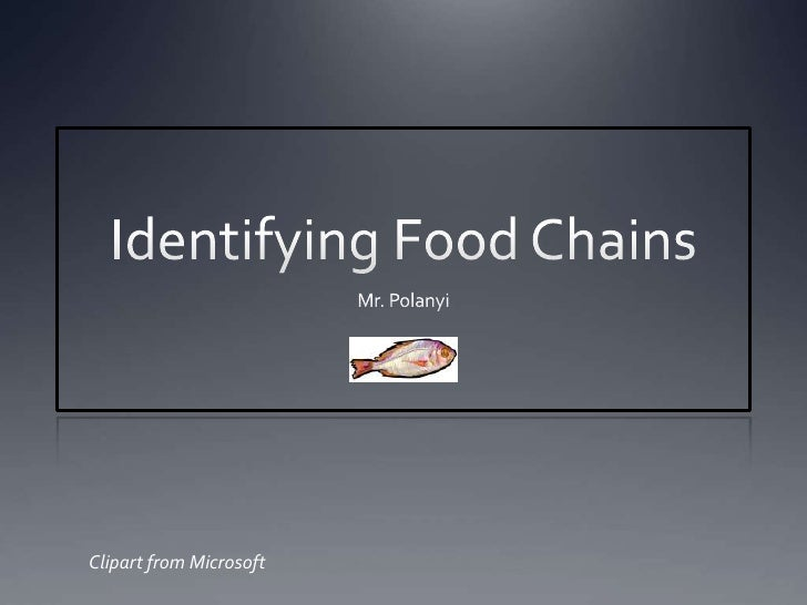 Identifying Food Chains<br />Mr. Polanyi<br />Clipart from Microsoft<br />
