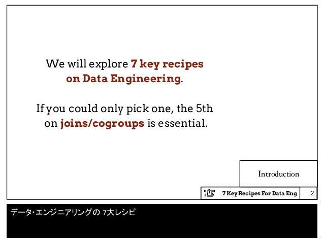 7 key recipes for data engineering Slide 2
