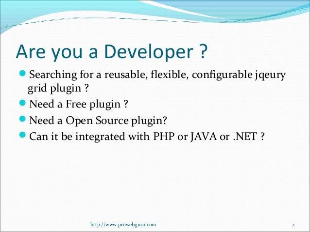 Free jQuery Grid Plugin - jQGrid