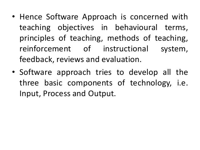 Hardware, software and systems approach to educational