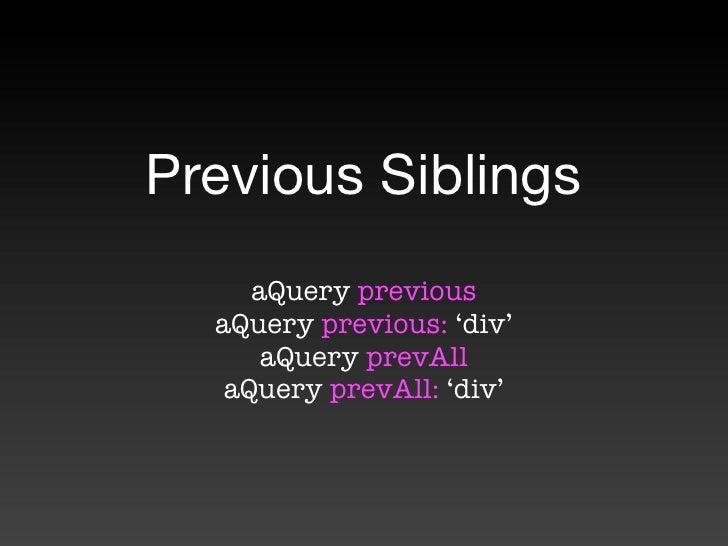 Siblings jquery