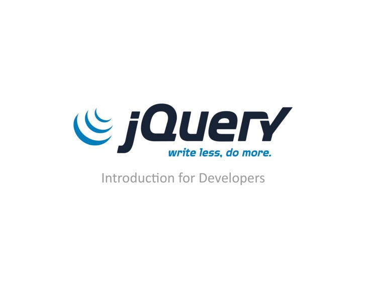 Introduc)onforDevelopers