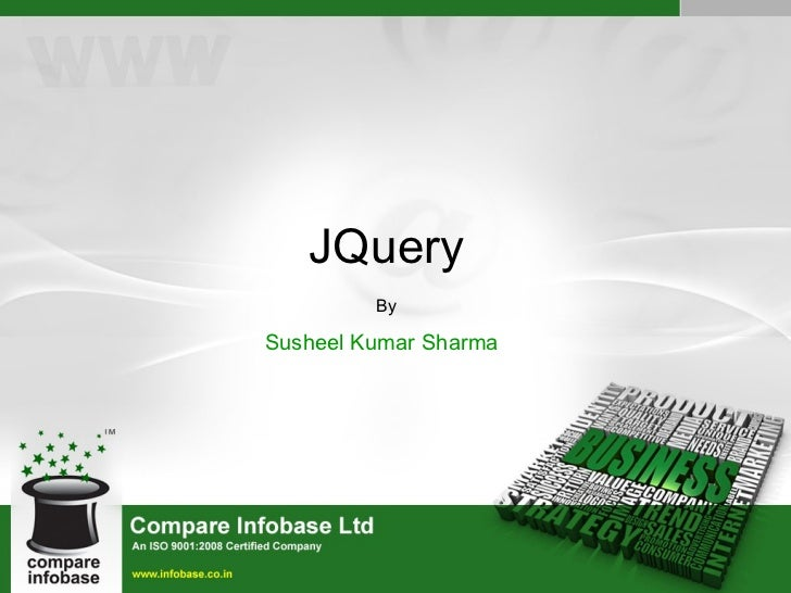 JQuery By Susheel Kumar Sharma
