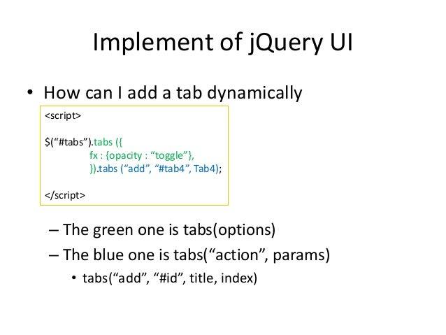 Tabs | jQuery UI