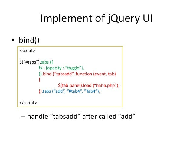 Tabs: Removed fx option. Fixes # - Tabs: Remove fx option. · jquery/jquery-ui@d3e0 · GitHub