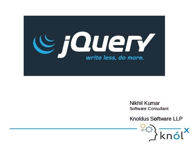 Nikhil Kumar Software Consultant Knoldus Software LLP Nikhil Kumar Software Consultant Knoldus Software LLP