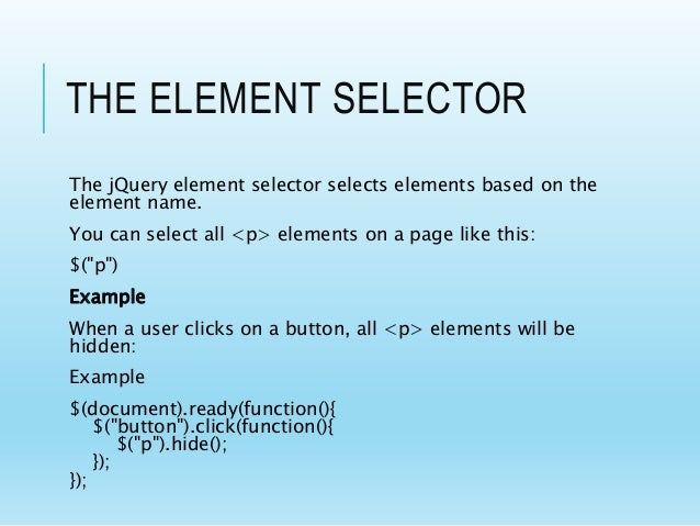 Jquery Complete Presentation along with Javascript Basics