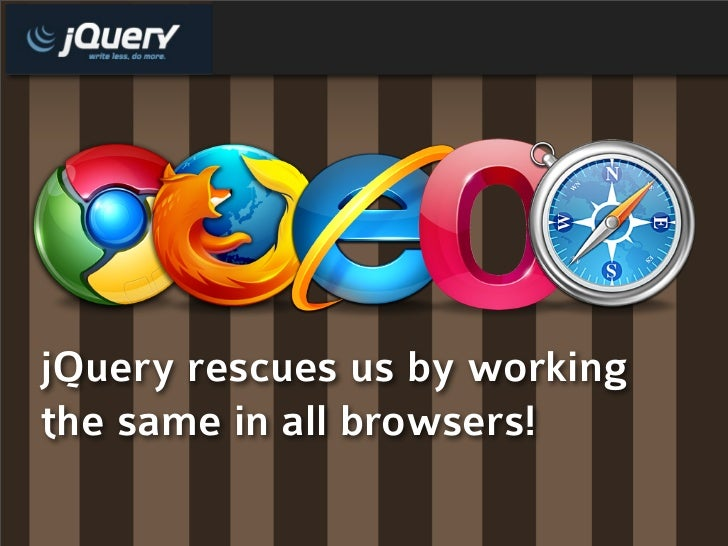 jQuery rescues us by working the same in all browsers!